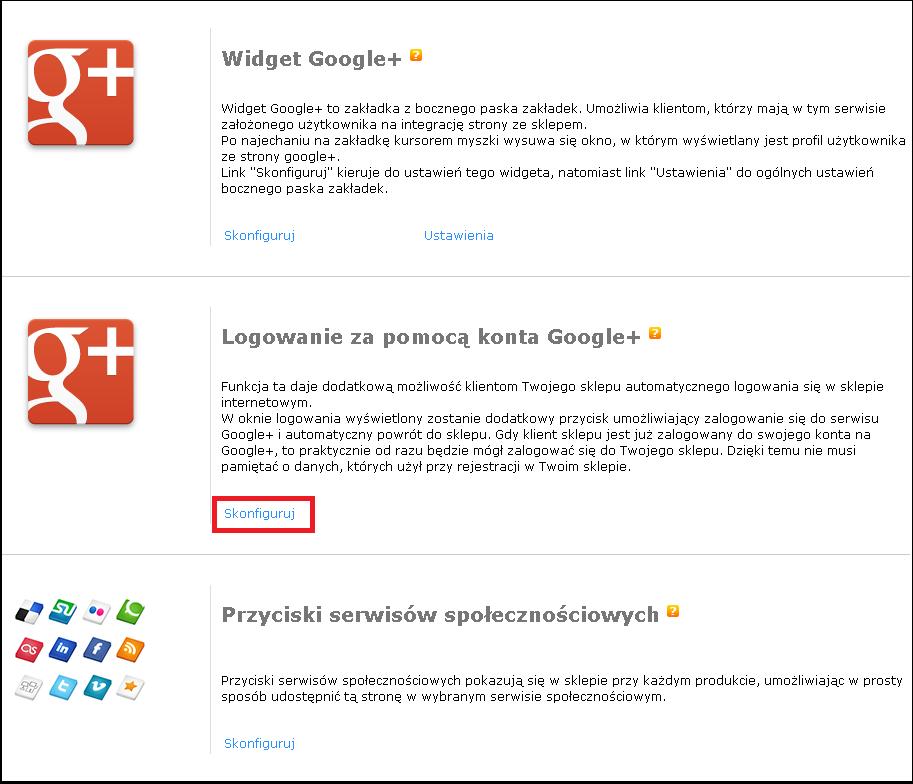 e26b22447b15c3 Logowanie za pomocą konta Google - - instrukcja - oprogramowanie sklepu  internetowego sStore.