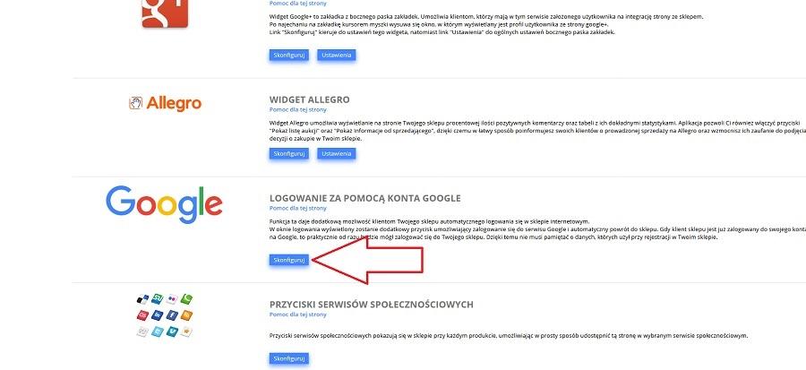 Logowanie Za Pomoca Konta Google Instrukcja Oprogramowanie Sklepu Internetowego Sstore